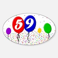 59th Birthday Oval Decal