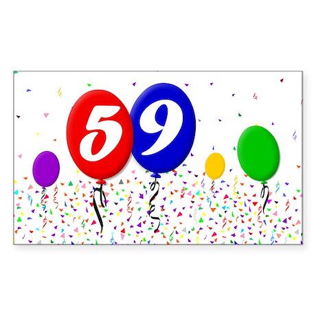 59th Birthday Rectangle Sticker