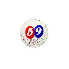 59th Birthday Mini Button
