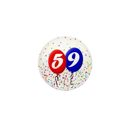 59th Birthday Mini Button