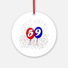 59th Birthday Ornament (Round)