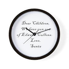 Dear Santa (Edward) 2 Wall Clock
