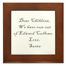 Dear Santa (Edward) 2 Framed Tile