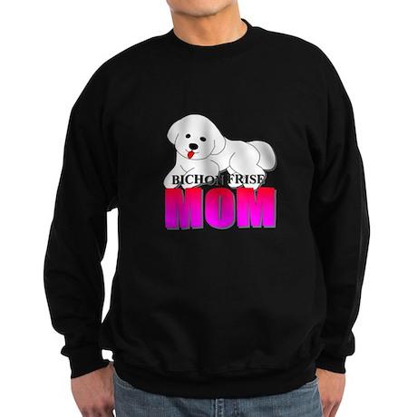Bichon Frise Mom Sweatshirt (dark)