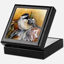 Cute Chickadee Keepsake Box
