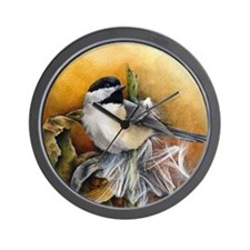 Funny Chickadee Wall Clock