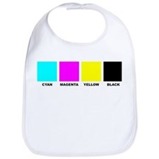 CMYK Four Color Process Baby Bib