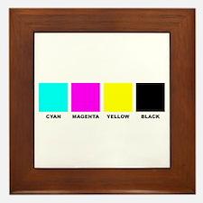 CMYK Four Color Process Framed Tile