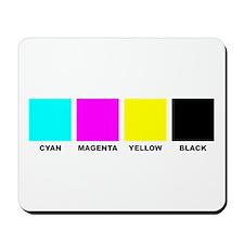 CMYK Four Color Process Mousepad