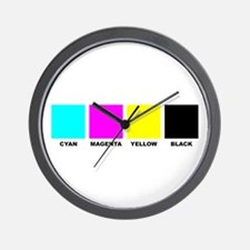 CMYK Four Color Process Wall Clock