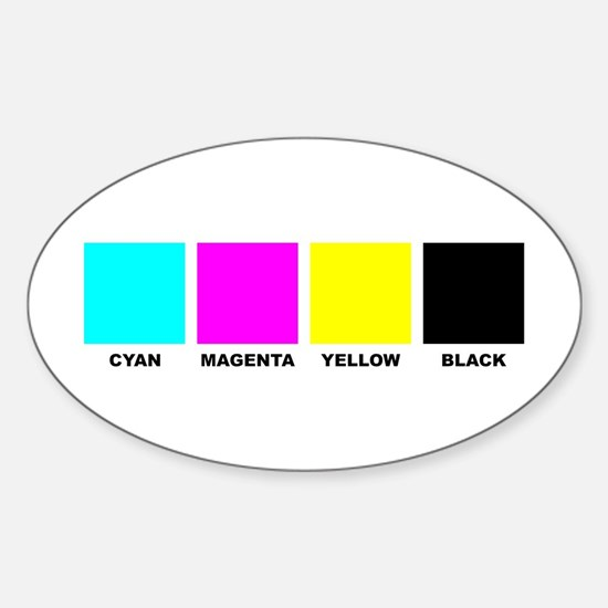 CMYK Four Color Process Oval Decal