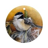 Black capped chickadee Ornaments