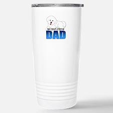 Bichon Frise Dad Stainless Steel Travel Mug