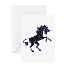 Black Unicorn Greeting Card