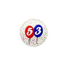 53rd Birthday Mini Button