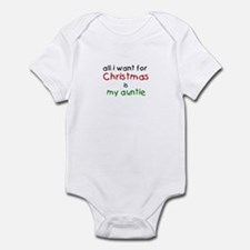 All I want for Christmas is m Infant Bodysuit