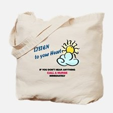 Listen to Heart Tote Bag