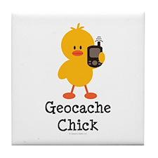 Geocache Chick Tile Coaster