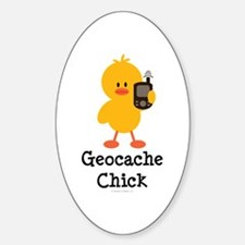 Geocache Chick Oval Decal
