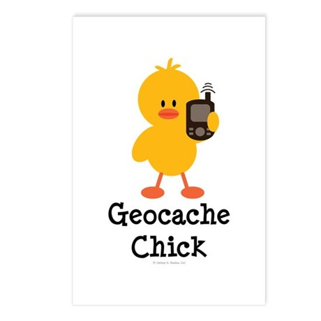 Geocache Chick Postcards (Package of 8)