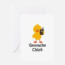 Geocache Chick Greeting Card
