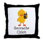 Geocache Chick Throw Pillow