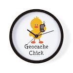 Geocache Chick Wall Clock