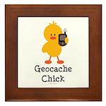 Geocache Chick Framed Tile