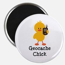 """Geocache Chick 2.25"""" Magnet (10 pack)"""