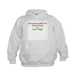 All mommy wants for Christmas Kids Hoodie