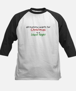 All mommy wants for Christmas Kids Baseball Jersey