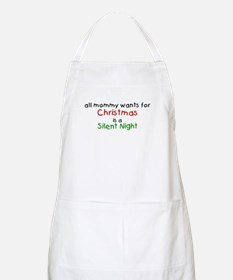 All mommy wants for Christmas Apron
