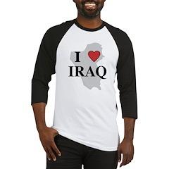 I Love Iraq Baseball Jersey