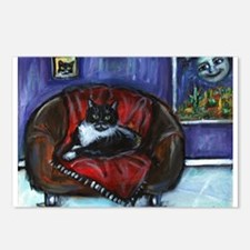 Cool Tuxedo cat Postcards (Package of 8)