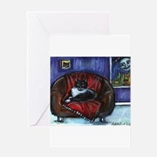 Funny Whimsical cats Greeting Card
