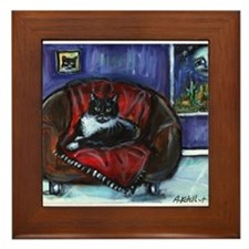 Cool Whimsical art Framed Tile