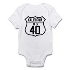 Route 40 Shield - California Infant Bodysuit