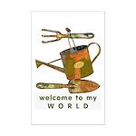 Garden Tools Mini Poster Print