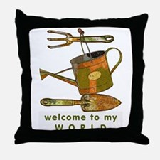 Garden Tools Throw Pillow