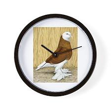 WOE Red Bald Pigeon Wall Clock