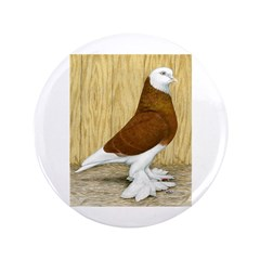 """WOE Red Bald Pigeon 3.5"""" Button"""