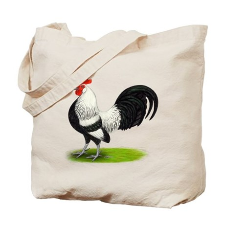 Dutch Silver Rooster Tote Bag