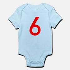 Number 6 Infant Bodysuit