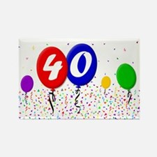 40th Birthday Rectangle Magnet (100 pack)