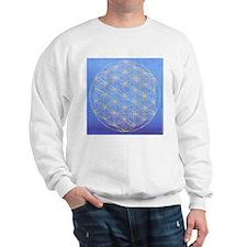flower of life/gold on blue Sweatshirt
