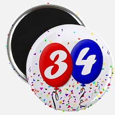 34th Birthday Magnet