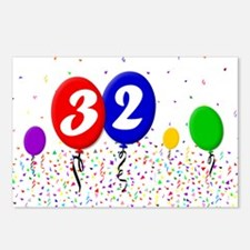 32nd Birthday Postcards (Package of 8)