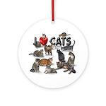 "Round Ornament""I love Cats"""