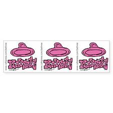 Condom Play Safe (left) Bumper Bumper Sticker