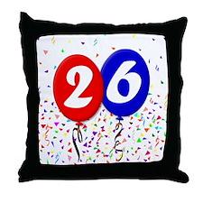26th Birthday Throw Pillow